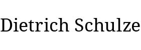 Dietrich Schulze