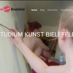 Vorstudium Kunst Bielefeld mit eigener Homepage